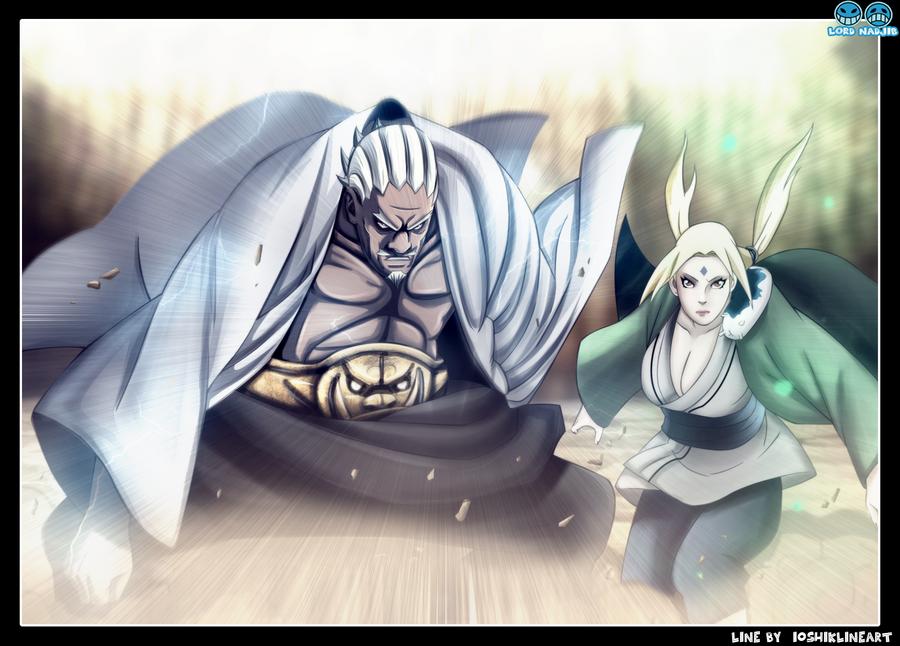 Tsunade and raikage by Lord-Nadjib