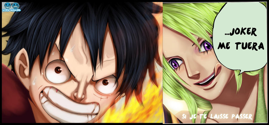 Luffy vs Mone by Lord-Nadjib