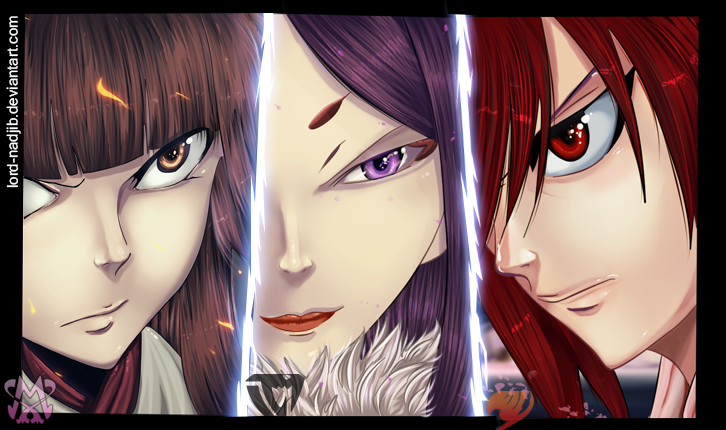 Erza vs Minerva vs kagura by Lord-Nadjib