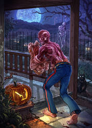 Halloween Self Portrait by chuckwadey