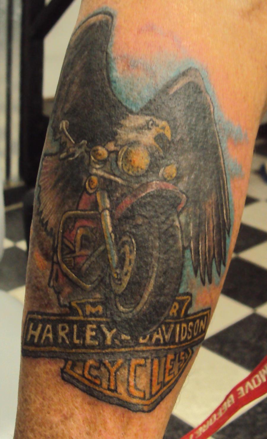 harley tattoo by justinwinterdesign on deviantart. Black Bedroom Furniture Sets. Home Design Ideas