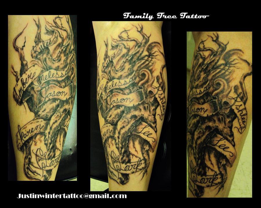 0cdb1b577493f Family Tree Tattoo by JustinWinterdesign on DeviantArt