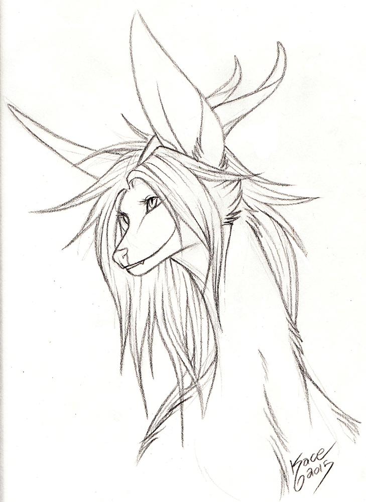 Fia - Sketch by kcravenyote