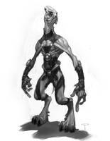 Extraterrestrial bastard by angel5art