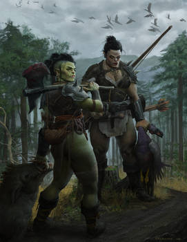 Orc Hunt by angel5art