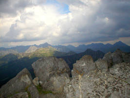 Landscape stock 61 mountains by Finsternis-stock