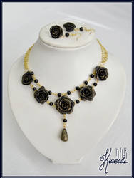 Black and gold roses- Custom work