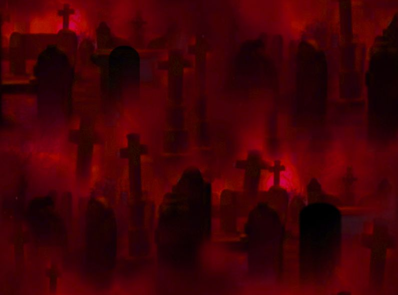 Red Graveyard Background FREE TO USE By Angel Tyler