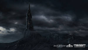Black Tower for ASP Music Clip Matte Painting