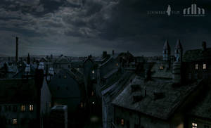 Vienna Rooftops Anno 1910 Matte Painting