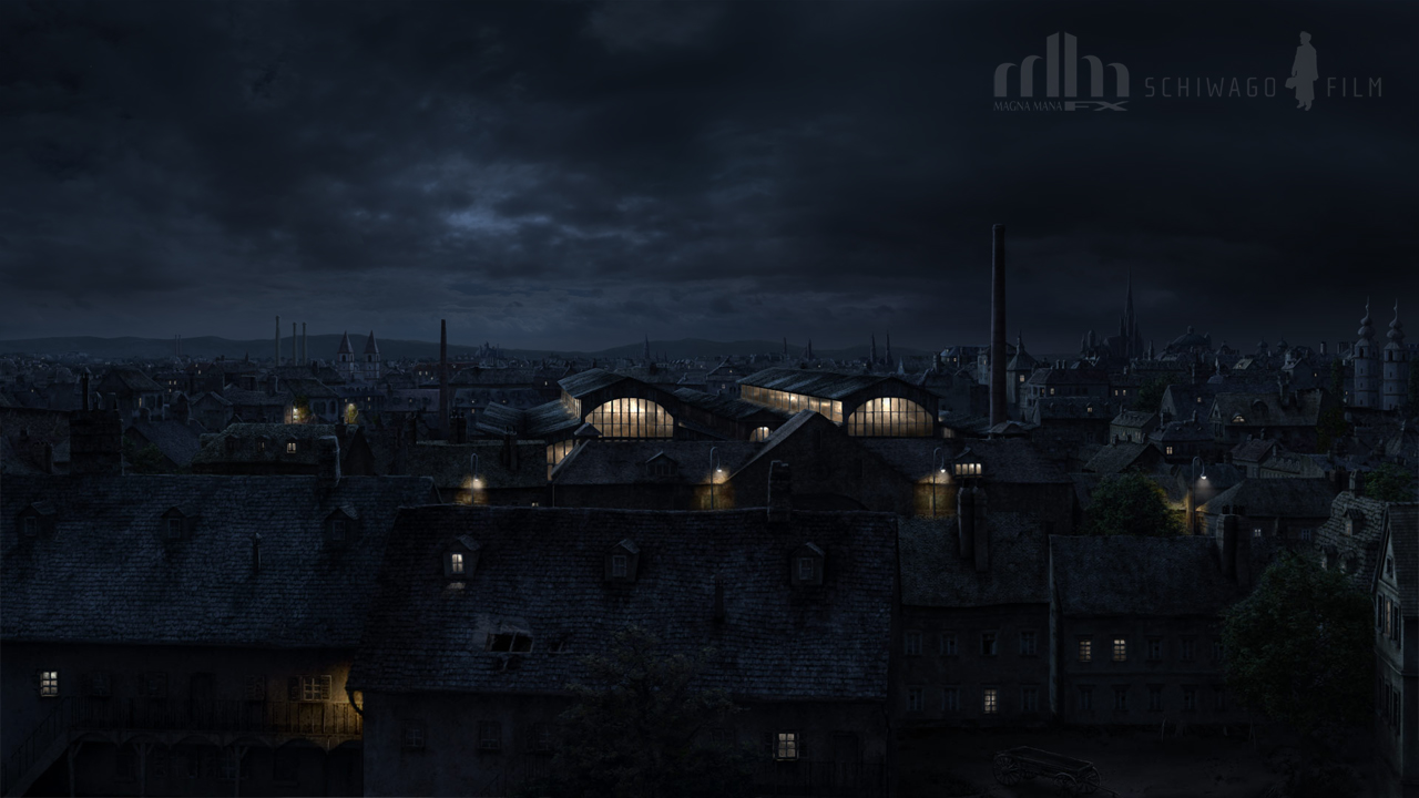 Vienna Night Matte Painting