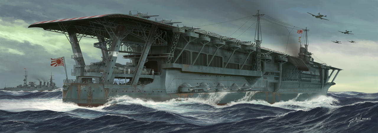 The last voyage of the Kaga by Jacklionheart