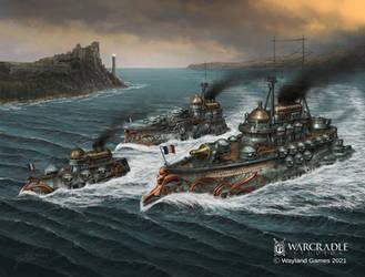 Dystopian Wars Alliance Battlefleet Oriflamme