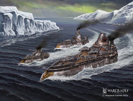 Dystopian Wars Borodino Battlefleet