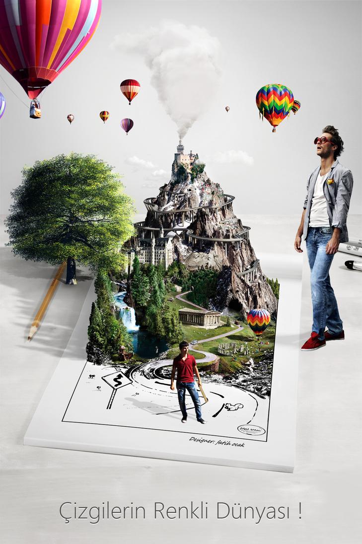 my creative poster design by fatihocak on deviantart