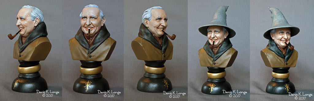 J.R.R.Tolkien 1/6 mini bust - painted version. by miguelzuppo