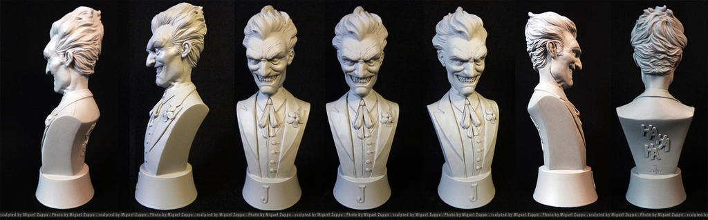Joker Mini-Bust by miguelzuppo