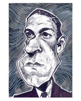 H.P.Lovecraft - caricature