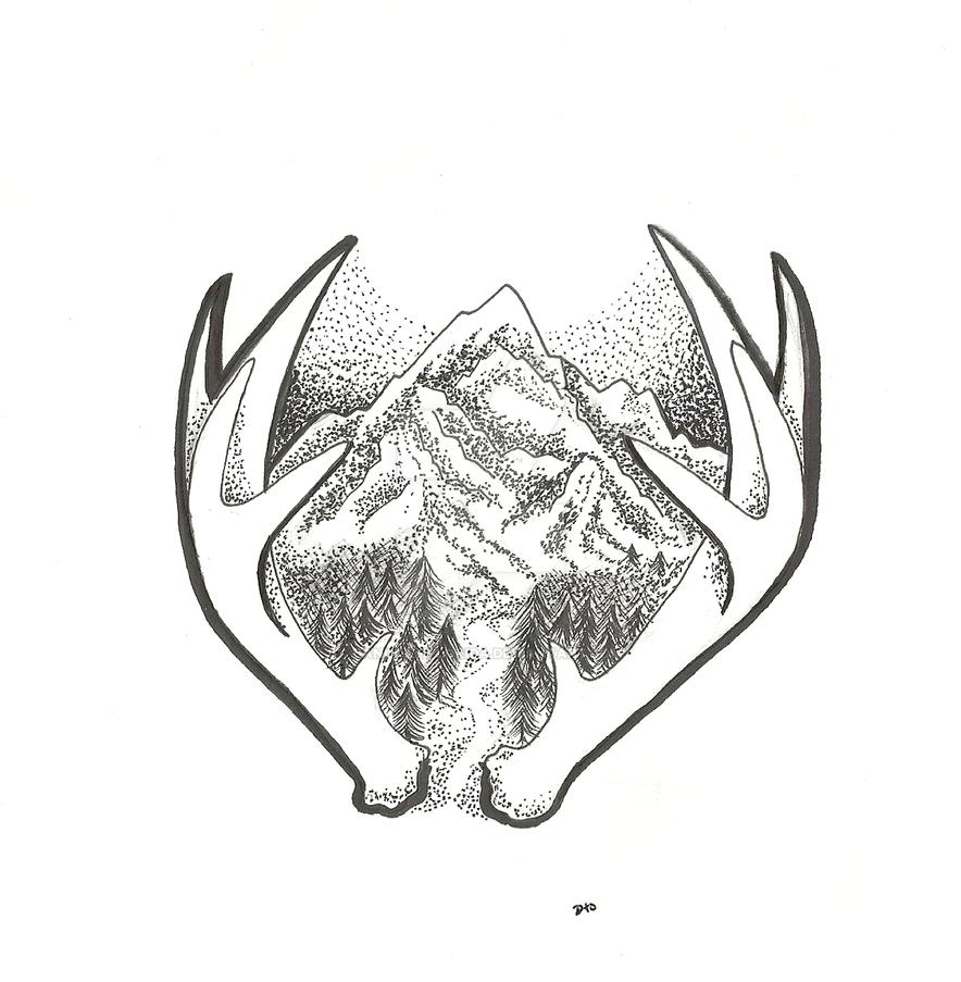 Line Art Tattoos Florida : Mountain line drawing tattoo imgkid the image