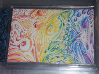 art card rainbow swirl