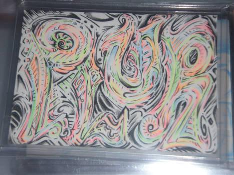 art card plur swirl
