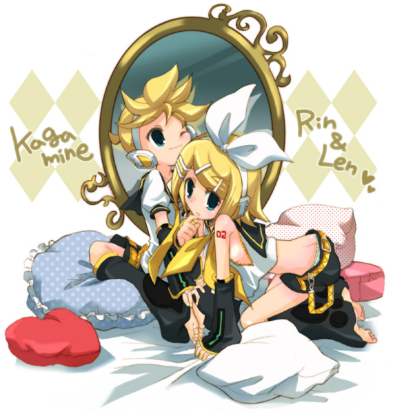 Len and Rin Kagamine by RikuHaronaX3
