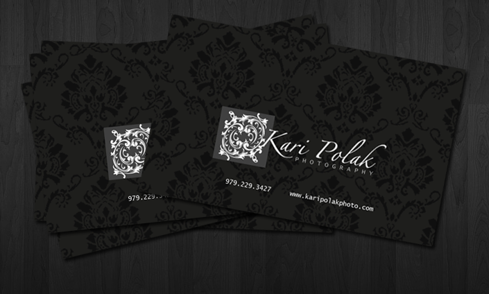 Kari Polak Photography BizCard by cardboardmonet
