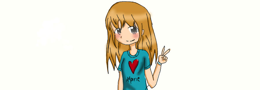 Anime Girl With Peace Sign By Xmariee On Deviantart