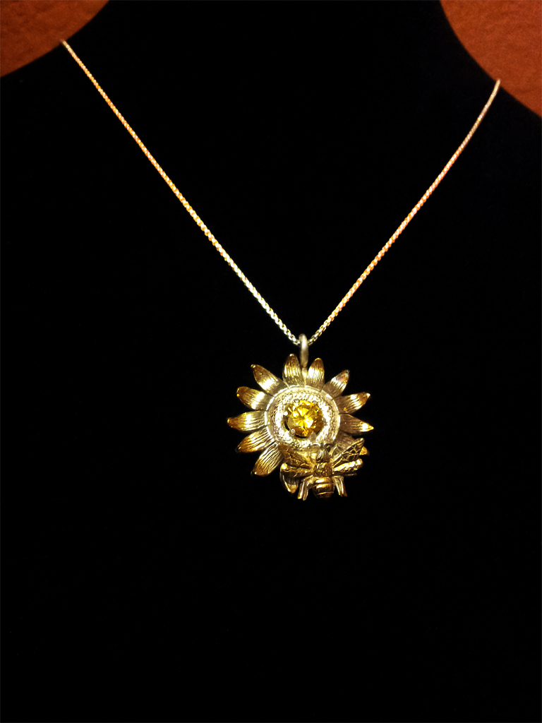 Sunflower Pendant by MonteNotton