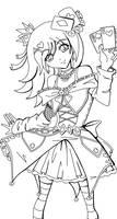 Gambler Lolita Lineart by Sakukko