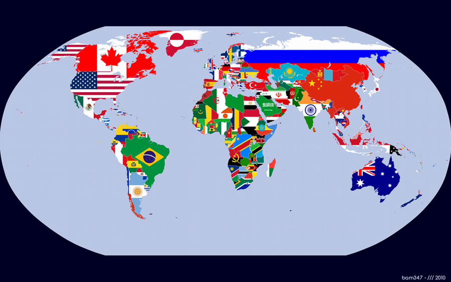 Flag Map of the World by bam347 on DeviantArt