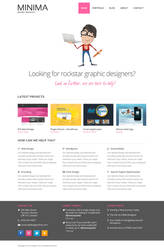 Minima - Free PSD Template by designerfirst
