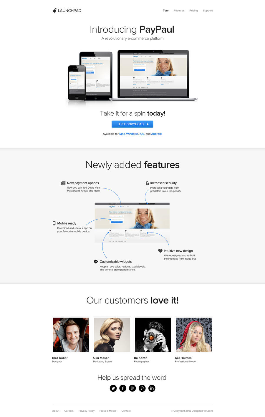 Launchpad - Free PSD Template for Product/Service by designerfirst