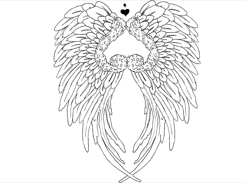 Line Drawing Wings : Angel wings tattoo by stickerfiend on deviantart