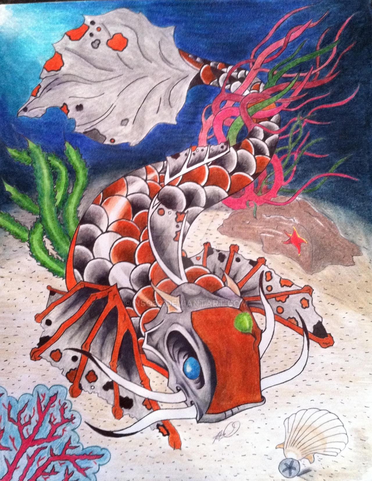 Alien Koi journey to Dragon\'s Gate by Nso32 on DeviantArt