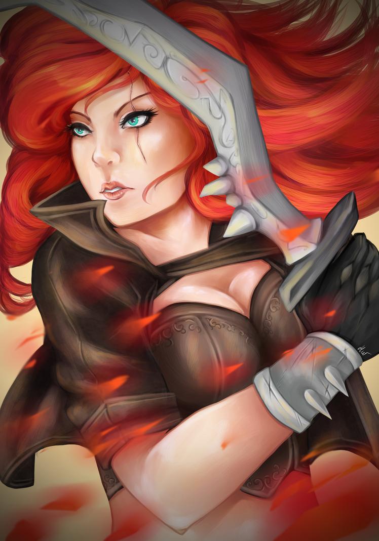 Firey Katarina by HolzyWolzy