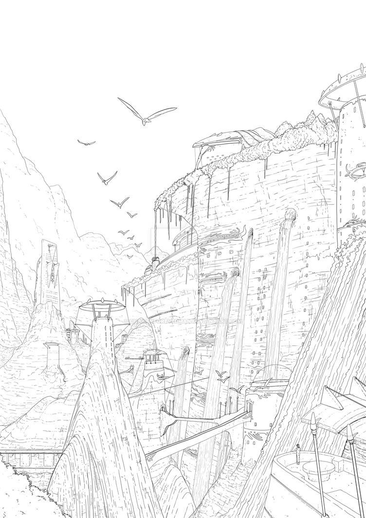 elf city of Krystal Palast by chakanforeverman