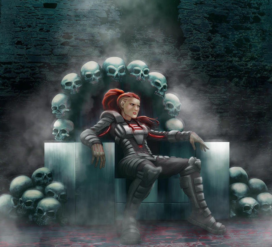 Mistress of War (digital paint) by chakanforeverman