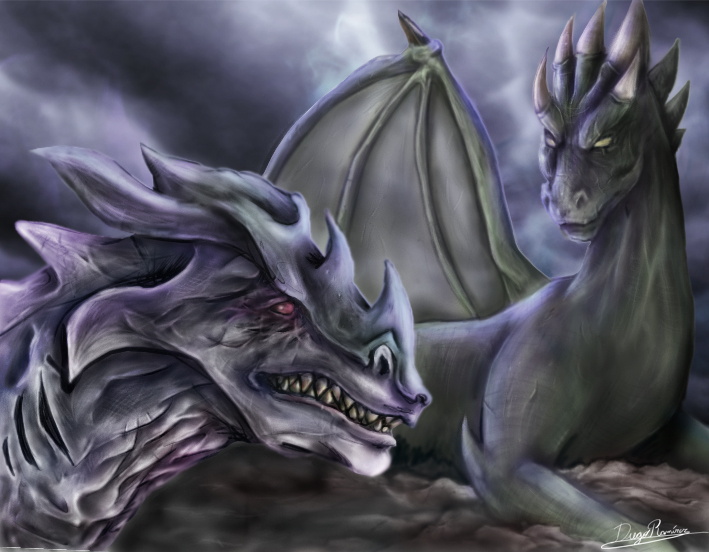 Dragones by diegora on deviantart for Gimnasio 5 dragones