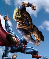Goku vs Superman by diegora