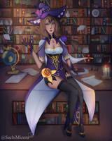 [GENSHIN IMPACT] - Lisa the Librarian by SachiMizora