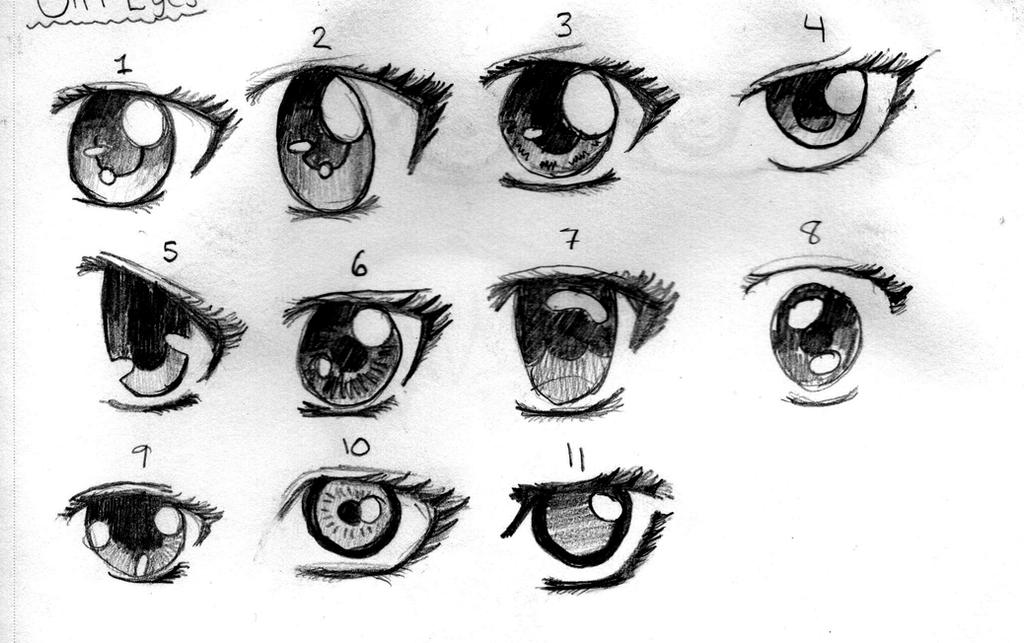 Anime girl eyes