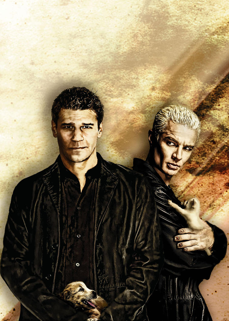 Angel And Spike... Um... Character Study. By Restfield On DeviantArt