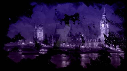 Nighttime Watercolor London