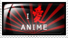 I Love Anime Stamp