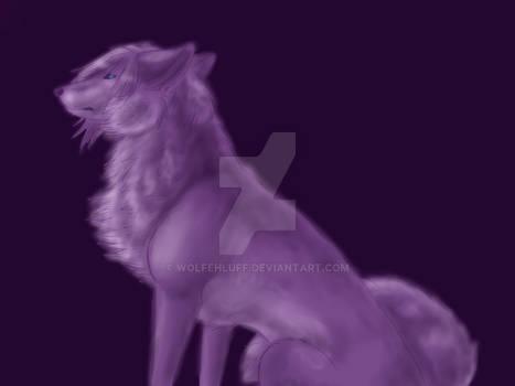Zexion wolf monochrome