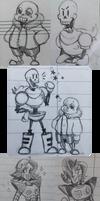 Undertale Doodle Dump by miaoutastique