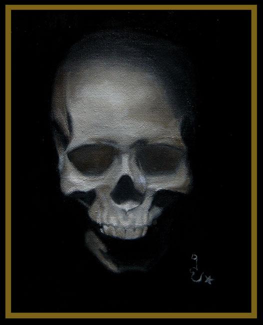 Skull Painting By Guaya