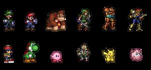 Smash Bros Original Roster (SSF2 Style)