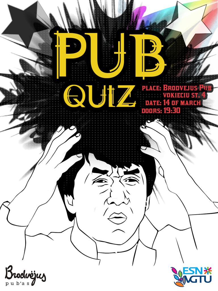 Poster design for quiz - Pub Quiz Poster By Onlykamei